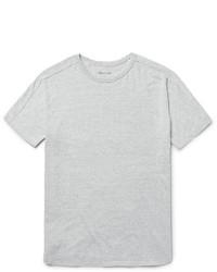 T-shirt girocollo lavorata a maglia grigia