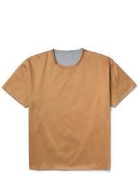 T-shirt girocollo marrone chiaro