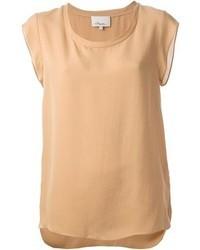 T-shirt girocollo marrone chiaro di 3.1 Phillip Lim