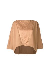 T-shirt girocollo marrone chiaro di Andrea Ya'aqov