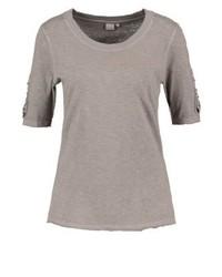 T-shirt girocollo marrone chiaro di Cream