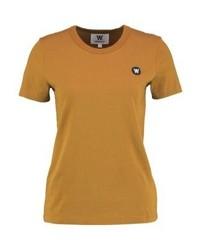 T-shirt girocollo marrone chiaro di Wood Wood