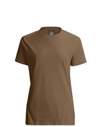 T-shirt girocollo marrone