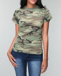 T-shirt girocollo mimetica