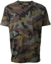T-shirt girocollo mimetica verde oliva