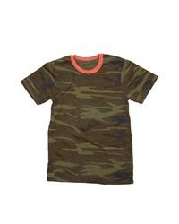 T-shirt girocollo mimetica verde scuro
