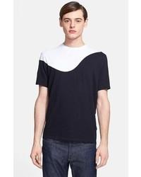 T-shirt girocollo nera e bianca