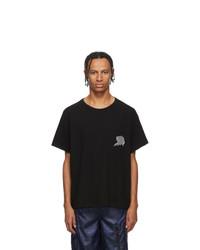 T-shirt girocollo nera di Alexander Wang