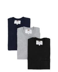T-shirt girocollo nera di Cédric Charlier
