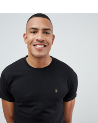 T-shirt girocollo nera di Farah