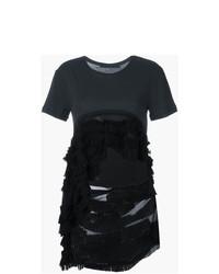T-shirt girocollo nera di Haider Ackermann