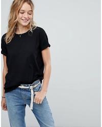 T-shirt girocollo nera di Hollister