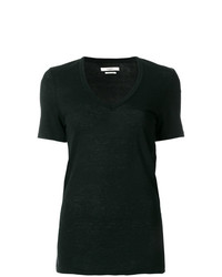 T-shirt girocollo nera di Isabel Marant Etoile