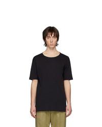 T-shirt girocollo nera di Lemaire