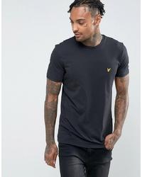 T-shirt girocollo nera di Lyle & Scott