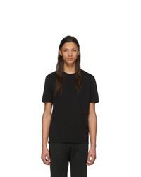 T-shirt girocollo nera di Maison Margiela