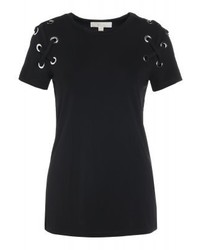 T-shirt girocollo nera di Michael Kors