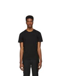 T-shirt girocollo nera di Moncler