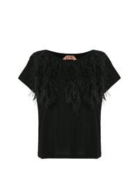 T-shirt girocollo nera di N°21
