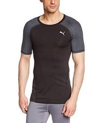 T-shirt girocollo nera di Puma