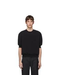 T-shirt girocollo nera di Random Identities