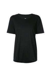 T-shirt girocollo nera di Raquel Allegra