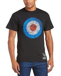 T-shirt girocollo nera di Rock Off