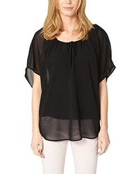 T-shirt girocollo nera di s.Oliver Premium