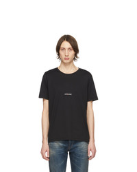 T-shirt girocollo nera di Saint Laurent