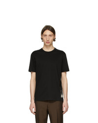 T-shirt girocollo nera di Tiger of Sweden