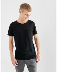 T-shirt girocollo nera di Tom Tailor