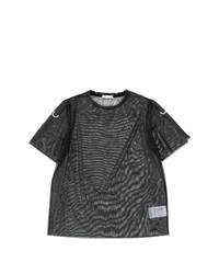T-shirt girocollo nera di Versace Jeans