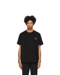 T-shirt girocollo nera di Wooyoungmi