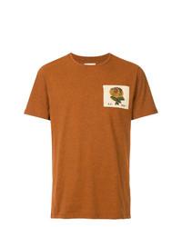 T-shirt girocollo ricamata terracotta di Kent & Curwen