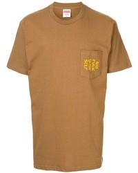 T-shirt girocollo ricamata terracotta di Supreme