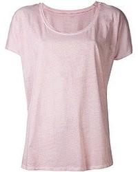 T-shirt girocollo rosa