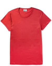 T-shirt girocollo rossa