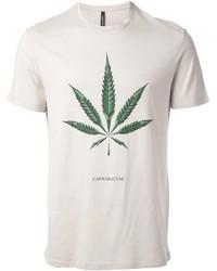 T-shirt girocollo stampata beige