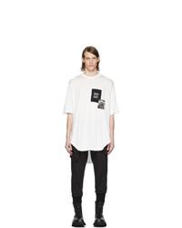 T-shirt girocollo stampata bianca e nera di Julius