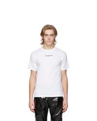 T-shirt girocollo stampata bianca e nera di Ottolinger