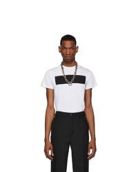 T-shirt girocollo stampata bianca e nera di Random Identities