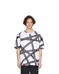 T-shirt girocollo stampata bianca e nera di Stolen Girlfriends Club