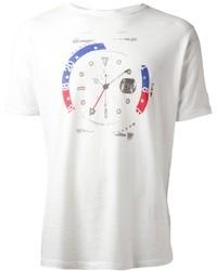 T-shirt girocollo stampata bianca