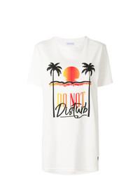 T-shirt girocollo stampata bianca di Chiara Ferragni