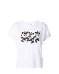 T-shirt girocollo stampata bianca di Marcelo Burlon County of Milan