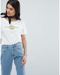 T-shirt girocollo stampata bianca di MiH Jeans