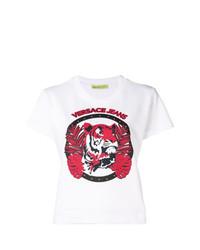 T-shirt girocollo stampata bianca di Versace Jeans