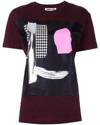 T-shirt girocollo stampata bordeaux di McQ by Alexander McQueen