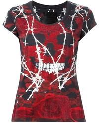 T-shirt girocollo stampata bordeaux di Philipp Plein