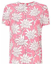 T-shirt girocollo stampata fucsia di Valentino
